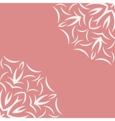 Pink background with white flower pattern vector