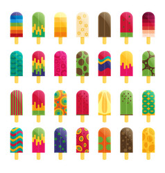 Popsicle ice cream flat vector