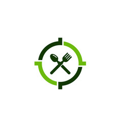 restaurant target logo icon design vector image