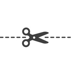 scissors mark icon images on white vector image