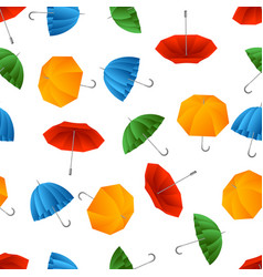 seamless pattern with color umbrella vector image