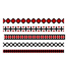 Seamless pixelated borders vector
