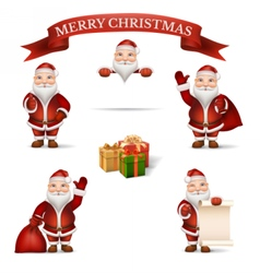 Set Santa Claus vector image