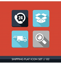 Shipping flat icons set vector image