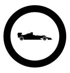 silhouette of a racing car icon black color in vector image