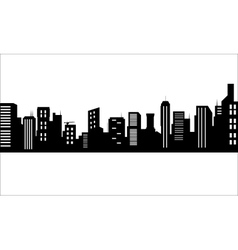 Silhouette of luxury buildings vector