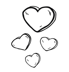 simple black and white freehand drawn cartoon vector image