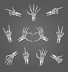skeleton hand signs vector image