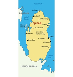 State of Qatar - map vector image
