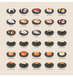Sushi set eps10 format vector