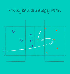 volleyball strategy background vector image