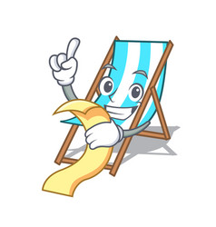 with menu beach chair mascot cartoon vector image