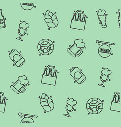brewing icons set pattern vector image