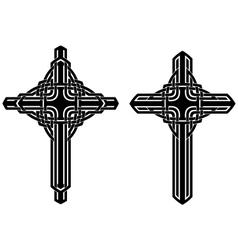celtic cross vector image