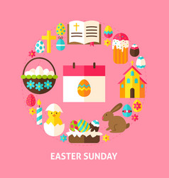 easter sunday card vector image