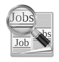 Job search concept vector image vector image