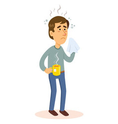 Man sick with flu vector image
