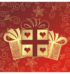 Romantic present vector image vector image