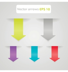 Set arrows in the form of paper stickers vector image vector image