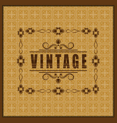 the vintage frame vector image