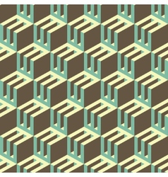 3d blocks structure background Seamless geometric vector image