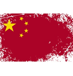 china grunge flag vector image vector image