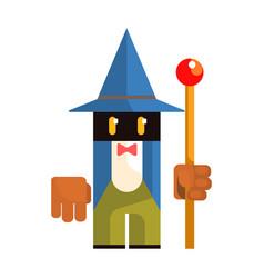 cute cartoon garden gnome fairy tale fantastic vector image vector image