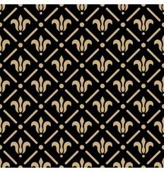 Golden pattern on dark damask background vector image vector image