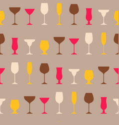 seamless pattern of wineglass background vector image