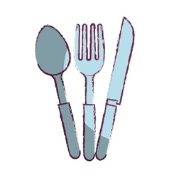 set cutlery kitchen tool isolated icon vector image vector image