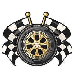 sports race design- racing checkered flag crossed vector image vector image