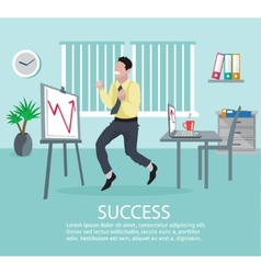 Successful Business Idea Poster vector image vector image