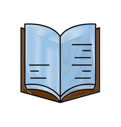 book text object vector image