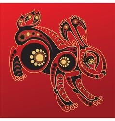 Chinese horoscope Year of the rabbit vector image