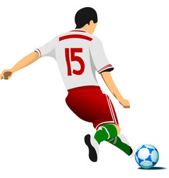 football player colored for designers vector image vector image