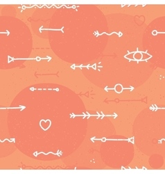 Hand drawn arrows seamless background vector image