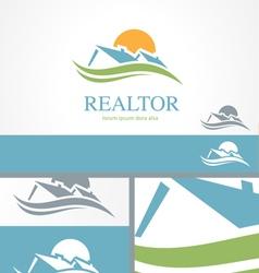 Real Estate Housing Valley Logo Concept Template vector image vector image