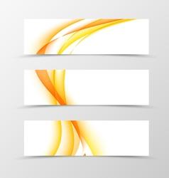 Set of header banner wavy design vector image vector image