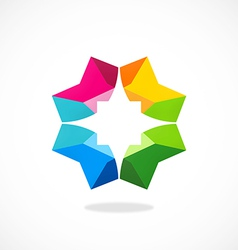 star color geometry abstract logo vector image