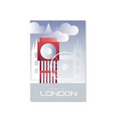 trip to london travel poster template touristic vector image