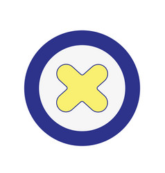 x network symbol to web connection vector image vector image