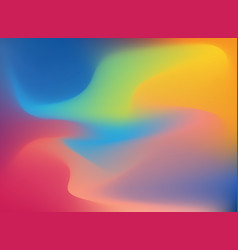 abstract 3d wave colorful dynamic effect vector image