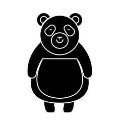 panda cute icon black sign vector image