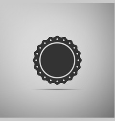 quality emblem flat icon on grey background vector image