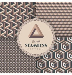 Set with seamless pattern vector image