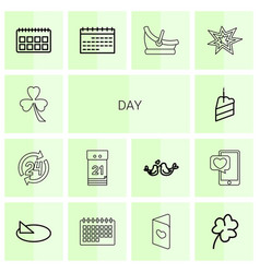 14 day icons vector