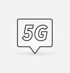 5g technology location mark concept outline vector image