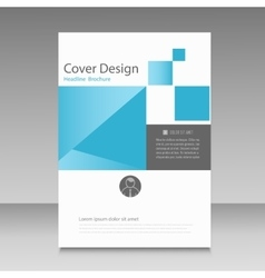 Abstract brochure template with squares elements vector