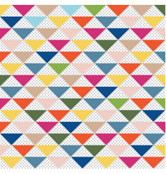 abstract pattern triangle colorful and gray dots vector image