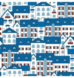 Background with white houses vector image